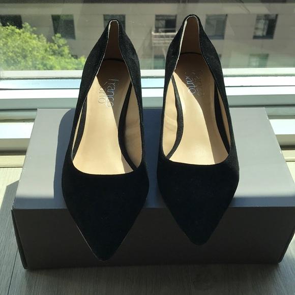 9e0671a897 Franco Sarto Shoes - Franco Sarto Callan Black Suede Block Heel Pump